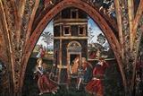 Martyrdom of Saint Barbara Giclée-tryk af Bernardino di Betto Pinturicchio