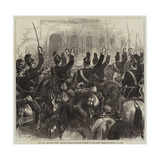 The War, Bavarian Light Dragoons Passing the Head-Quarters of the Crown Prince of Prussia at Ligny Giclee Print by Arthur Hopkins