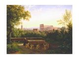 View of the Colosseum from the Orti Farnesiani, 1833 Giclee Print by Antoine Felix Boisselier