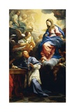 Virgin with Child Appearing to St. Francis De Sales, 1691 Giclée-tryk af Carlo Maratta