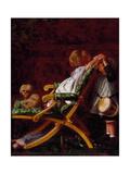 Playmates, 1866 Giclee Print by Arthur Boyd Houghton