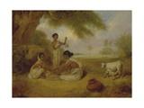 Grinding Corn, C.1792-95 Giclée-tryk af Arthur William Devis