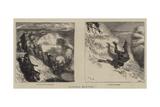 Buffalo Hunting Giclee Print by Arthur Boyd Houghton