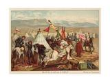Battle of Isly, Morocco, 1844 Giclée-Druck von Antoine Charles Horace Vernet