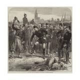 The War, Fall of Strasbourg, Departure of French Prisoners Gicléetryck av Hopkins, Arthur