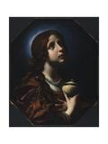 The Penitent Magdalene, C.1650-51 Giclée-tryk af Carlo Dolci