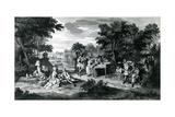 A L'Ombre Des Bosquets Dans Un Beau Jour D'Eté..C.1710 Giclee Print by Bernard Picart