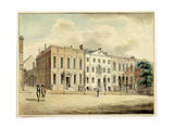 North-East Corner of Wall and William Streets, New York City, 1798 (W/C and Ink on Paper) Giclee Print by Archibald Robertson