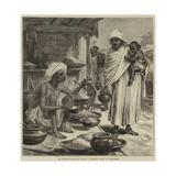 The Impending Famine in Bengal, a Bengalee Beniah or Grain-Seller Gicléetryck av Hopkins, Arthur