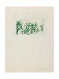 La Ronde, C. 1883-1884 Giclée-tryk af Auguste Rodin