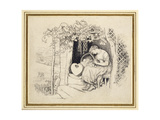 By the Cradle Giclee Print by Arthur Hughes