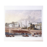 The British Residency at Hyderabad, 1813 ; 1830 (Hand-Coloured.) Giclee Print by Captain Robert M. Grindlay