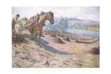 Muck Spreading on a Fallow Field Giclée-tryk af Carl Larsson