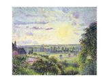 Sunset at Eragny, 1891 Reproduction procédé giclée par Camille Pissarro