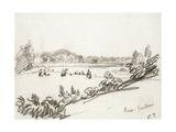 Study of Kew Gardens Reproduction procédé giclée par Camille Pissarro