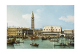 The Molo from the Basin of San Marco, Venice, C.1747-1750 Giclée-tryk af  Canaletto