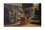 Princess Mathilde in Her Art Studio Giclee Print by Charles Giraud