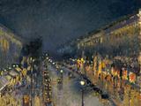 Boulevard Montmartre in der Nacht, 1897 Giclée-Druck von Camille Pissarro