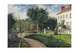 Garden of Les Mathurins at Pontoise, 1876 Reproduction procédé giclée par Camille Pissarro