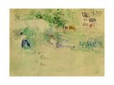 Les Foins a Bougival Giclee Print by Berthe Morisot
