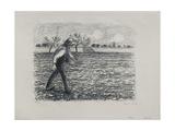 Sower, 1896 Reproduction procédé giclée par Camille Pissarro