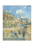 Le Parc Aux Charrettes, Pontoise, 1878 Reproduction procédé giclée par Camille Pissarro