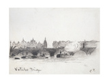 Study of Waterloo Bridge Reproduction procédé giclée par Camille Pissarro