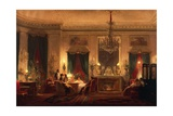 The Drawing Room of Princess Mathilde in Rue De Courcelles in Paris, 1859 Giclee Print by Charles Giraud