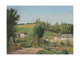 Hamlet Near Pontoise; Hameau Aux Environs De Pontoise, 1872 Reproduction procédé giclée par Camille Pissarro