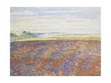 Study of a Landscape with a Ploughed Field, Eragny-Sur-Epte, C. 1886 - 1890 Reproduction procédé giclée par Camille Pissarro
