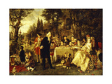 Wedding Party in the Garden of Fontainebleau Giclee Print by Carl Herpfer