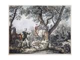 Hunters Giclée-Druck von Antoine Charles Horace Vernet