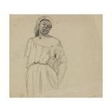 Study of a Negress Reproduction procédé giclée par Camille Pissarro
