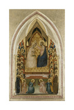 The Coronation of the Virgin with Angels and Saints, C.1340-5 Giclée-tryk af Bernardo Daddi