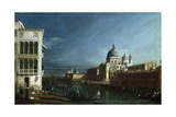 The Molo Looking West with the Doge's Palace in the Distance Reproduction procédé giclée par Bernardo Bellotto