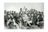 The Musical Union, Publ. by Hanhart, 1851 Giclee Print by Charles Baugniet