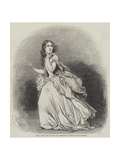 Mademoiselle Jenny Lind, as Lucia Di Lammermoor, at Her Majesty's Theatre Giclee Print by Charles Baugniet