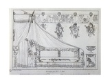 Bed Made for Mr T from Paris Giclee Print by Charles Percier