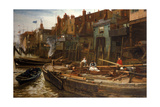 London River - the Limehouse Barge-Builders, 1877 Giclee Print by Charles Napier Hemy