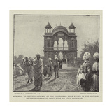 Memorial to Officers and Men of the Guides Who Were Killed in the Defence of the Residency at Cabul Giclee Print by Charles Joseph Staniland