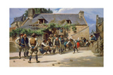 The Game of Boules at Pont-Aven, 1869 Giclee Print by Charles Giraud