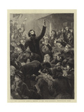 The Salvation Army, a Service at the Head Quarters, Whitechapel Road Giclee Print by Charles Joseph Staniland
