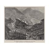 The Landslip in Switzerland Giclee Print by Charles Joseph Staniland