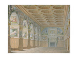 Ms 1014 the Ballroom at Fontainebleau, Plate from an Album Giclee Print by Charles Percier