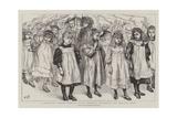 A Children's School Festival at St Andrew'S, Stockwell, the Maypole Dance Giclee-trykk av Charles Paul Renouard