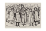 A Children's School Festival at St Andrew'S, Stockwell, the Maypole Dance Giclee Print by Charles Paul Renouard