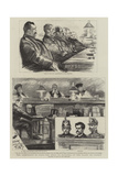 The Anarchists in Paris, the Trial of Ravachol at the Palais De Justice Giclee Print by Charles Paul Renouard
