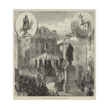 Unveiling the Statue of Daniel Manin at Venice Giclee Print by Charles Robinson