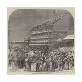 The Grand Stand at Epsom on the Derby Day Giclee Print by Charles Robinson