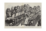 Whitechapel Way, Children at Prayer in the Church Schools, Osborne Street Giclee-trykk av Charles Paul Renouard